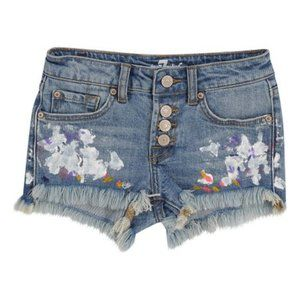 NEW 7 FOR ALL MANKIND PAINT SPLATTER SHORTS SZ 14